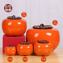 Persimmon tea can gift box with persimmon ruyi simulation living room all the best ceramic large large large