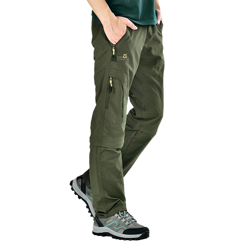 Wolf riding outdoor quick-drying pants men and women trousers summer ultra-thin trousers men's hiking pants men's detachable quick-drying pants