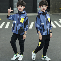 Childrens clothing boys 2020 Set 2019 new Big childrens foreign childrens sports boy spring loaded three-piece tide autumn