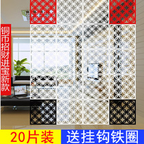 Hanging screen partition restaurant living room bedroom home shading curtain decoration folding fashion flower window hollowed hanging