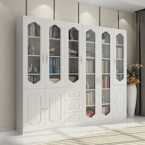 Bookcase Bookshelf Simple Modern combination home bookcase wooden Office file cabinet landing study Glass door Bookcase