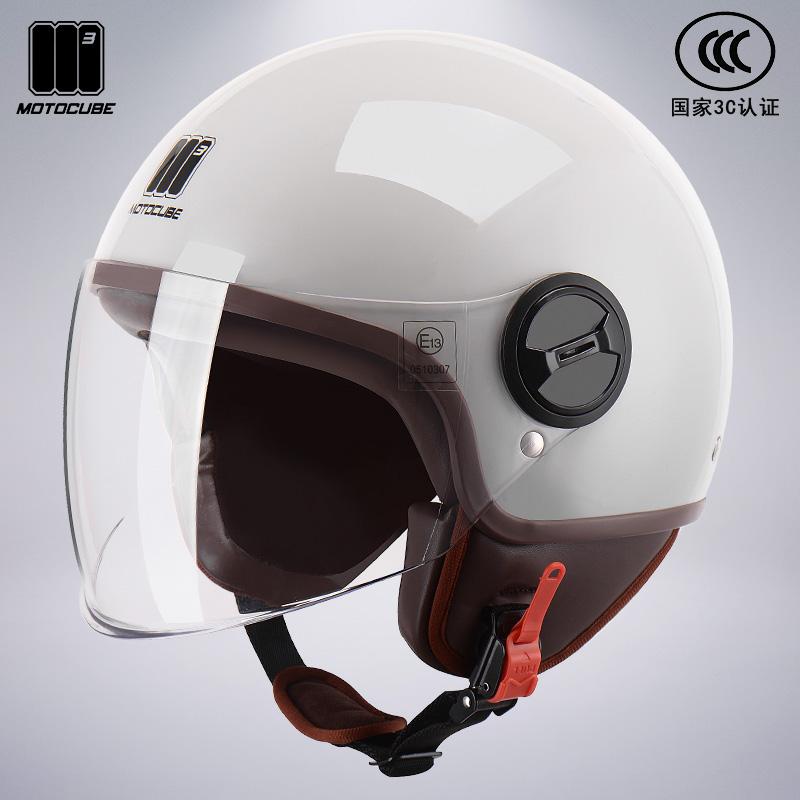 3C certified Mustang Moslem 託 helmet mens and womens four seasons warm half helmet electric car hard hat