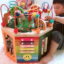 Полтора года ребенок головоломка мальчик интеллект 0-1 лет больше детские игрушки раннего просвещения вокруг бусы сокровище сундук девочки