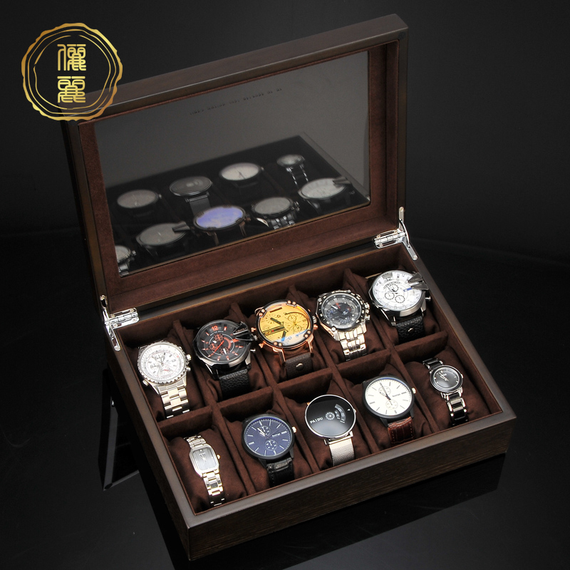 Li Li hand 錶 box storage box wooden jewelry box ancient wind Chinese wind string home simple watch box box collection