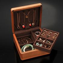 Li Li Shi wood jewelry box Portable storage box Jewelry box Buddha beads jewelry box Bracelet box Watch box Necklace box