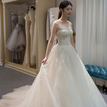 The Princess of the Department of the tail dream minimalist wedding dress