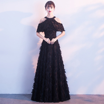 Autumn and winter party evening dress