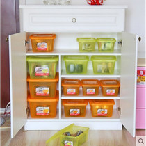 Alice Iris transparent snack toy plastic storage trumpet storage box finishing storage box with cover