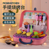 Childrens home toy barbecue kitchen set simulation cooking 5 kids 7 kitchenware 10 girls 6 years old 8 to 12