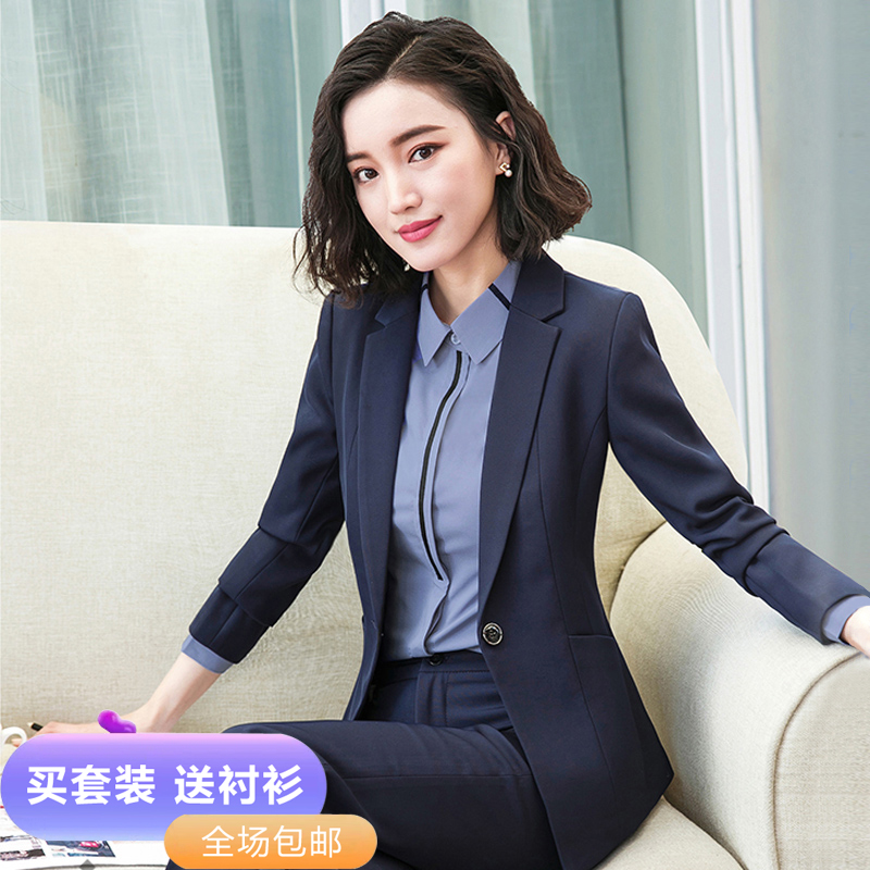 Suit suit female Korean version autumn and winter fashion temperament goddess Fan high-end work clothes interview is dressed in front of the work clothes
