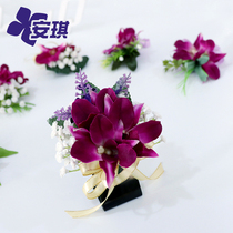 Business Event Conference Ocean Orchid brooch Simulation Star Celebration opening ribbon-cutting etiquette realistic VIP flower