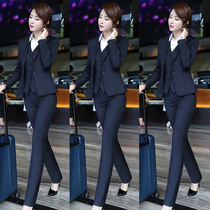 Suit Set Female Temperament 2021 Autumn and Winter Fashion Business Dress President Formwork Overalls High-end Suit