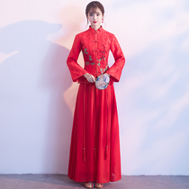 Chinese red thickening and self-cultivation winter cheongsam