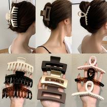 Simple hairclip back head grab clip female summer large bath hair card ins Net Red Shark clip hair headgear
