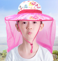 Parent-child hat outdoor summer childrens hat baby sun protection fisherman hat boys and girls thin fashion sun hat
