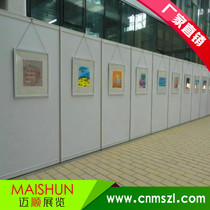 National custom high-end painting and calligraphy exhibition board seamless art board wall photography exhibition School Exhibition Hall display board wall