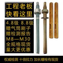 Chemical anchor thrombolysis Chemical expansion chemical bolt screws chemical expansion bolt M12 M16 M20