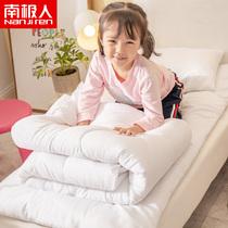 南极人幼儿园枕头被子内芯三件套加厚羽丝绒保暖儿童床品六件套