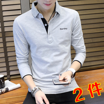 丅 new autumn fashion trend 2020 autumn clothes mens cotton clothes polo t-shirt long-sleeved autumn