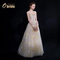 Звездная луна ночь] тост платье невесты 2019 зима новый свадебный банкет шоу вечернее платье Sen свет свадебное платье женщины