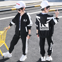 Childrens boy spring suit 2020 new childrens handsome spring and autumn models yangqi spring and autumn season Li is the same with the tide of clothing