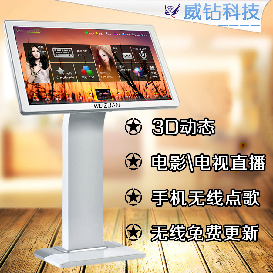 Weidian 9500 family KTV song-ordering machine touch screen integrated machine household karaoke sound set