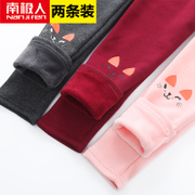 Nanjiren Kids Girls Leggings winter 2017 new female baby cotton and cashmere pants to wear thick children