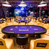 (Star Poker) New Oval Texas Poker Table Stacked Professional Club Event Table Spot Can Be Customized