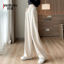 Corduroy high-waisted wide-leg pants womens autumn and winter loose straight casual trousers slim Joker pants