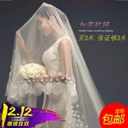 The bride wedding veil wedding veil 2017 new 3 meters long tailed Korean Lace Wedding Veil
