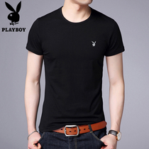 Playboy summer mens crew neck slim fit t-Shirt