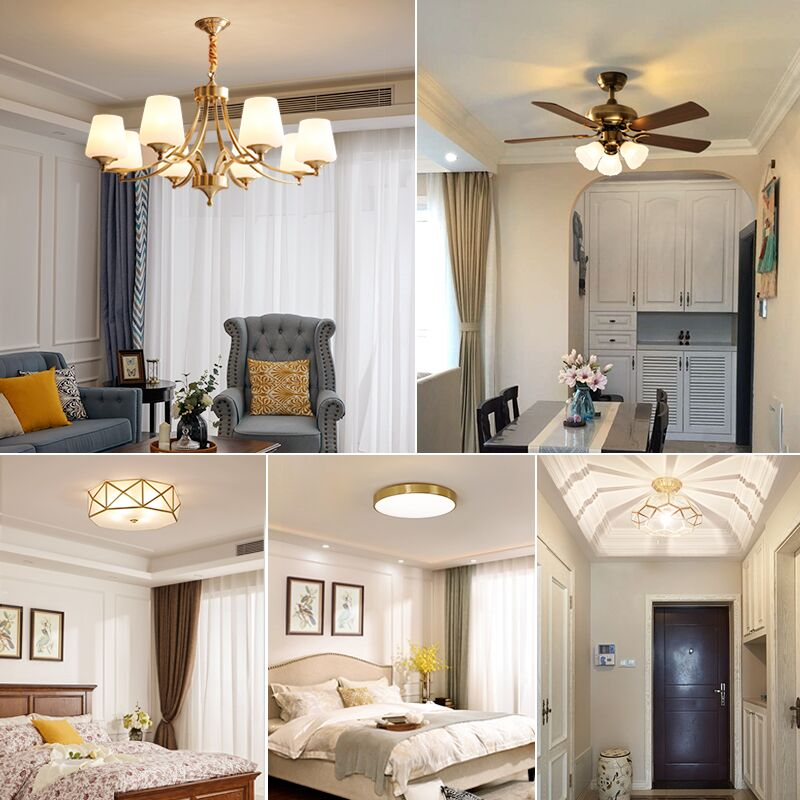 2019 New Full House Lighting Set Combination Three Rooms Two Rooms American Chandelier Living Room Bedroom Simple Modern Atmosphere