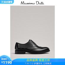 Massimo dutti men's shoes new men's dress shoes black business leather Block shoes 1220050800