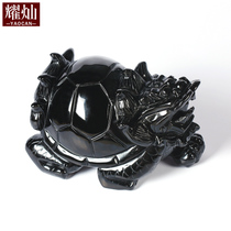 Yaocan Obsidian dragon turtle ornaments Home Feng Shui decorations Mascot Crystal jewelry decoration wealth gifts