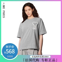 AMI SS21 new short-sleeved female pure cotton big love embroidery large edition loose T-shirt male couple star