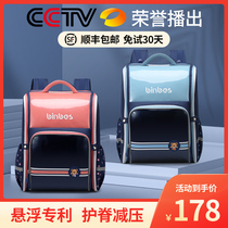 2021 Japanese ultralight school bag Primary school girl large capacity 123 to 6th grade childrens school bag Male spine protection