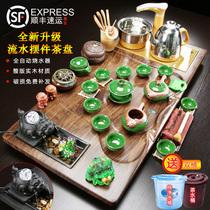 Чай набор группы дома полностью автоматической одной части гостиной чайная тарелка офис будет гость керамический кунг-фу чайник твердых деревянный чайник