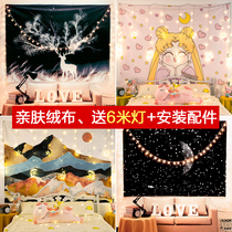 Background cloth ins wind hanging cloth Network Red Room Live room rental room decoration wall cloth dormitory bedroom bedside tapestry