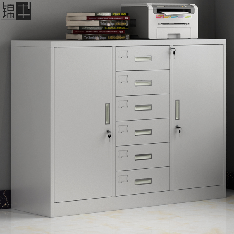 File tin cabinet short cabinet data file six bucket impotence tool storage A4 with lock small cabinet drawer iron cabinet