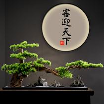 Ornements de bonsaï d'ornement de pin de bienvenue à grande échelle Xuanguan Hotel Club échantillon salle d'affichage décoration nouveau chinois