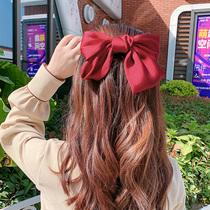 La Corée du Sud Grand Arc En Épingle À Cheveux TOP pince cheveux ornements rouge épingle à cheveux coiffe fille super grand net rouge ins tête corde