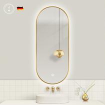 Light luxury smart bathroom mirror with lamp led makeup mirror hanging wall toilet toilet toilet mirror net red mirror