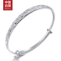 Chinese silver 999 foot silver bracelet female models Mori opening starry fashion young models send mom to girlfriend