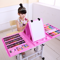 Watercolor pen safe non-toxic washable children watercolor brush set water-soluble color pen 36 color color pen kindergarten color pen art student crayon 24 painting set painting brush tool