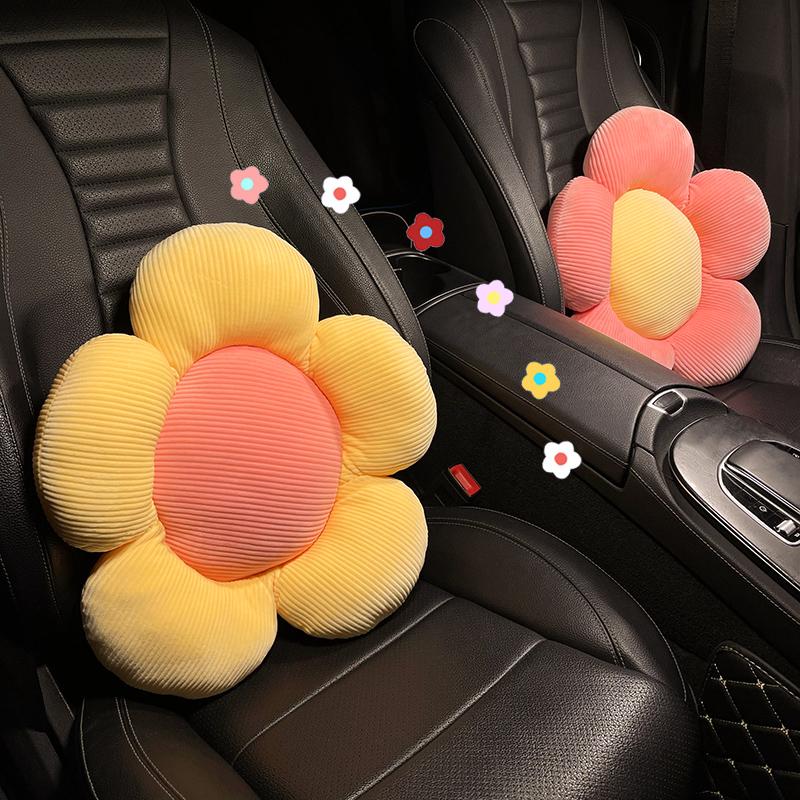Ins net red car cushion waist cushion car seat cute泫 Yahua waist by driving waist guard goddess model