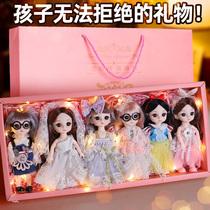 61 Childrens toys Girl Princess Birthday gift 3-12 years old Cub Bear Barbie doll set gift box
