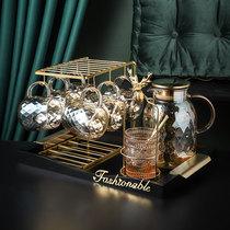 Canjay Light luxury tea set Living room glass tea cup Afternoon tea teapot Fruit tea flower teapot Nordic water set