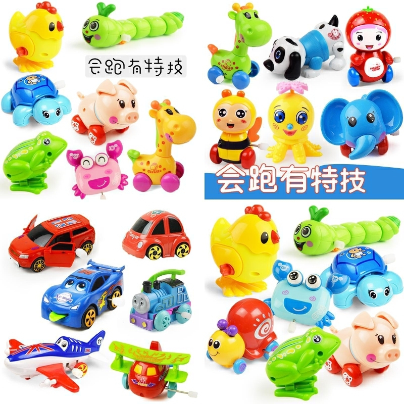 Moving, running, duck jumping, rolling, spinning, brainstorming, clockwork toy, small animal, upper chord swing, small fish, new style