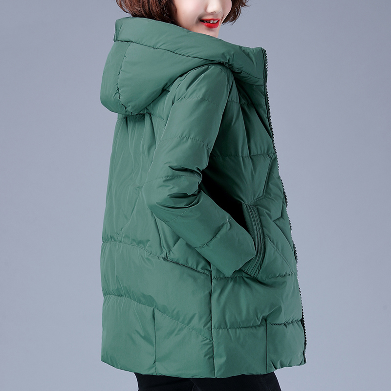 Down cotton coat female casual middle-old mother 2020 new autumn winter dress thick and thin short clip cotton clothing