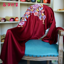 Ancient embroidery Arts double silk shawls hand embroidery embroidery embroidery classically stylish atmosphere